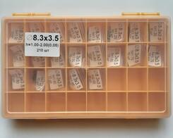43006CRX  НАБОР РЕГ. ШАЙБ  8,30 x 3,50 x 1,00...2,00 мм  (0,05) 210 шт